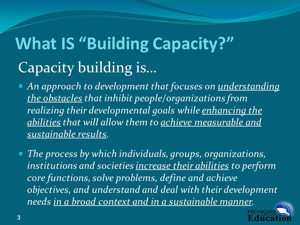 What IS Building Capacity