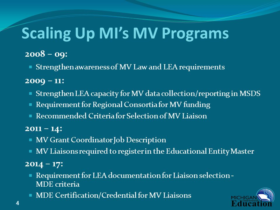 Scaling Up MI's MV Programs