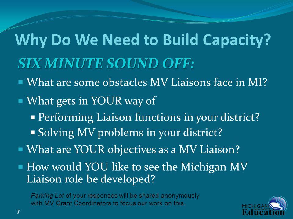 Why Do We Need to Build Capacity