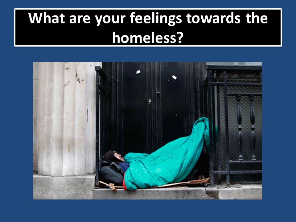 What are your feelings towards the homeless