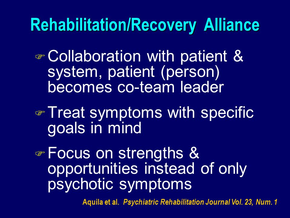 Rehabilitation/Recovery Alliance