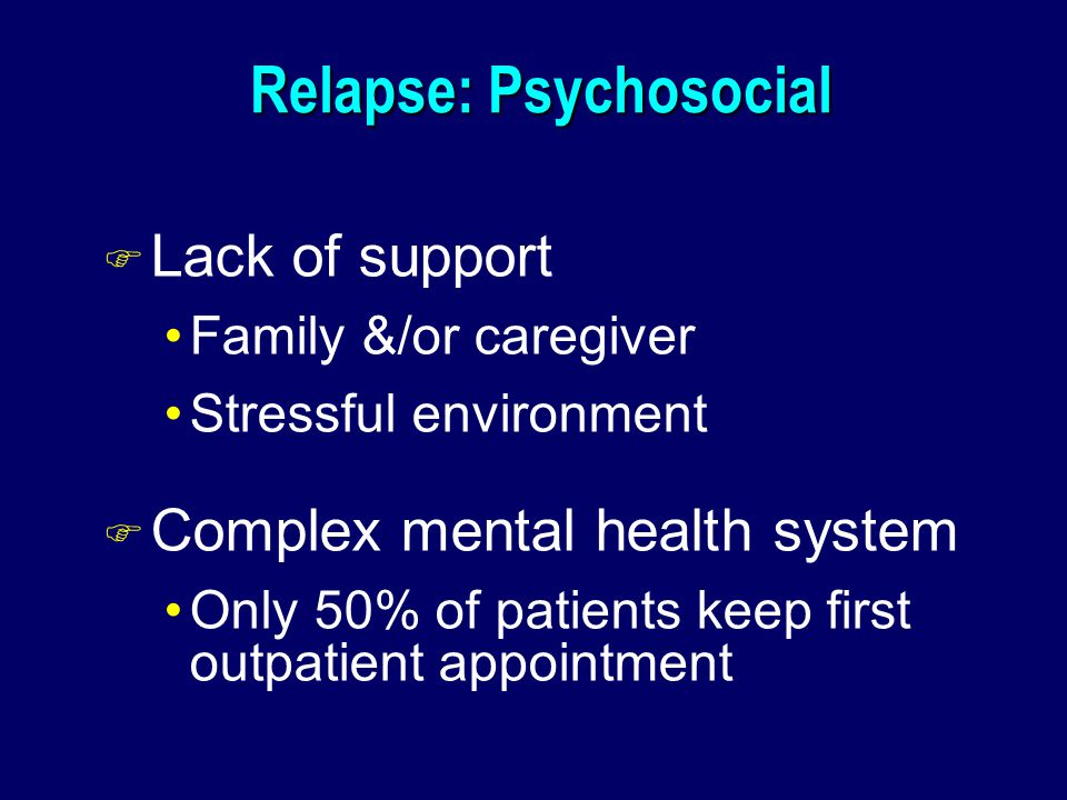 Relapse: Psychosocial