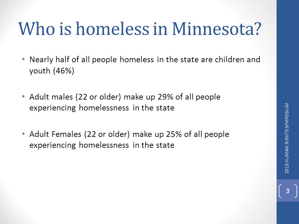 Who is homeless in Minnesota