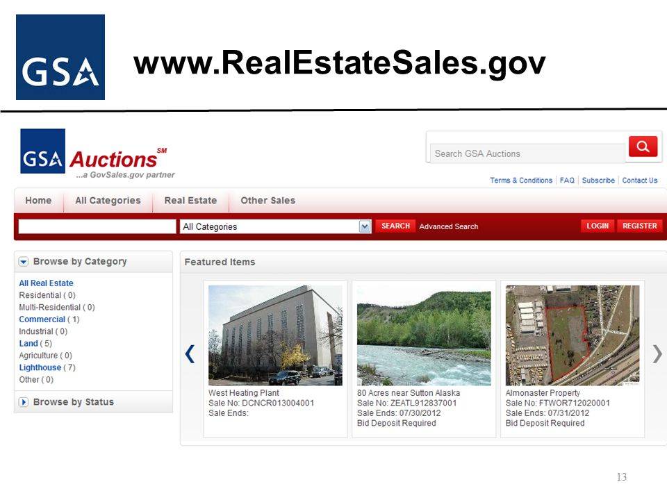 www.RealEstateSales.gov