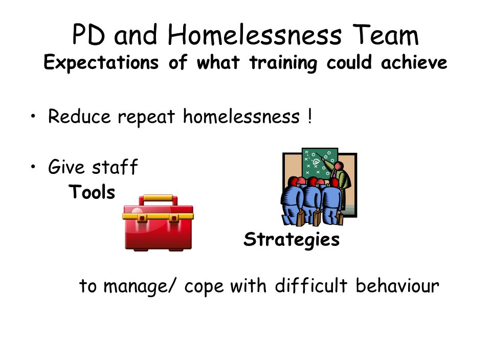 PD and Homelessness Team Expectations of what training could achieve