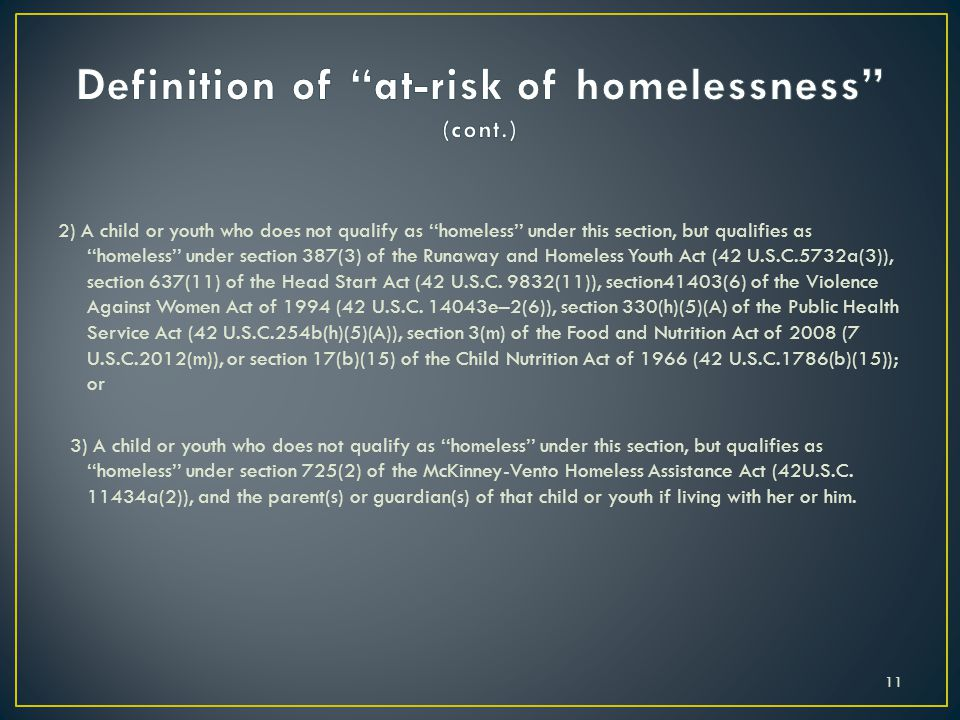 Definition of at-risk of homelessness (cont.)