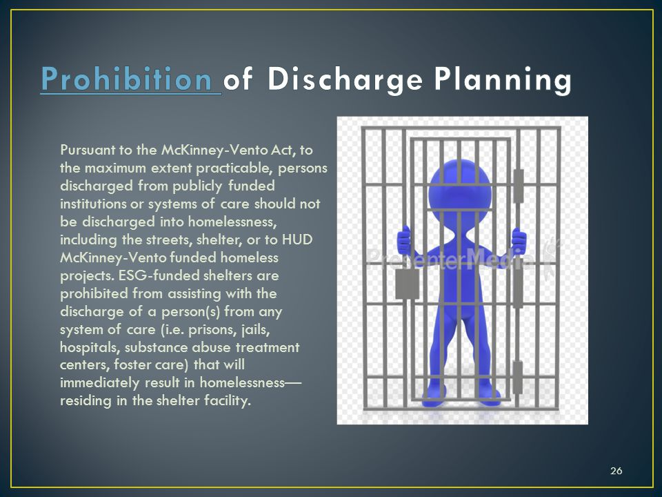 Prohibition of Discharge Planning