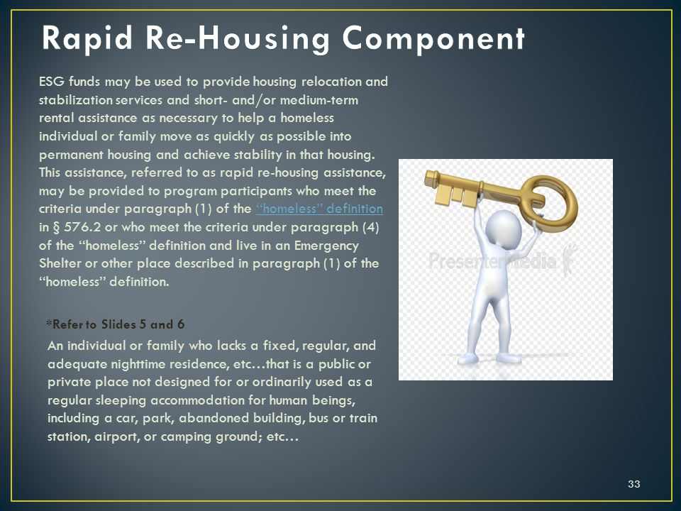 Rapid Re-Housing Component