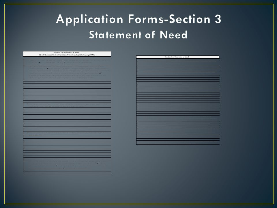 Application Forms-Section 3 Statement of Need