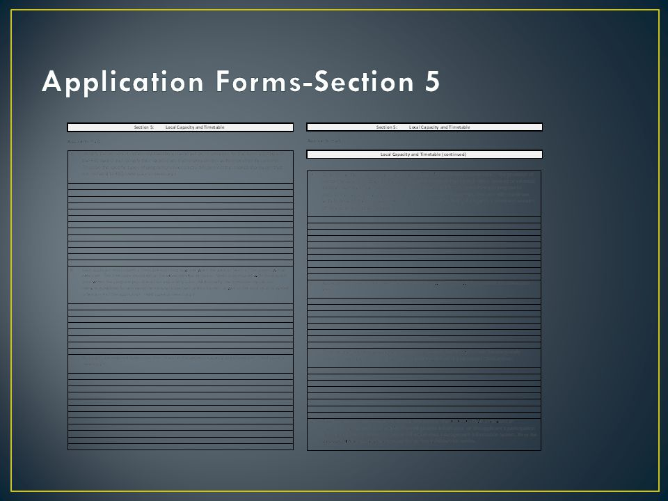 Application Forms-Section 5