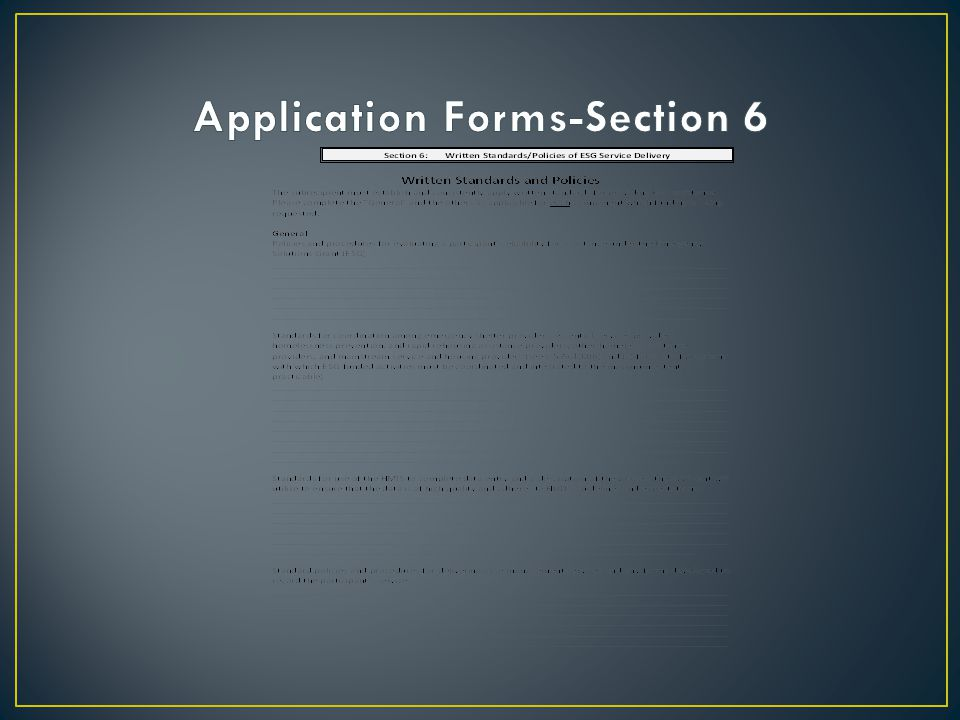 Application Forms-Section 6