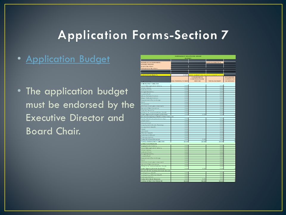 Application Forms-Section 7