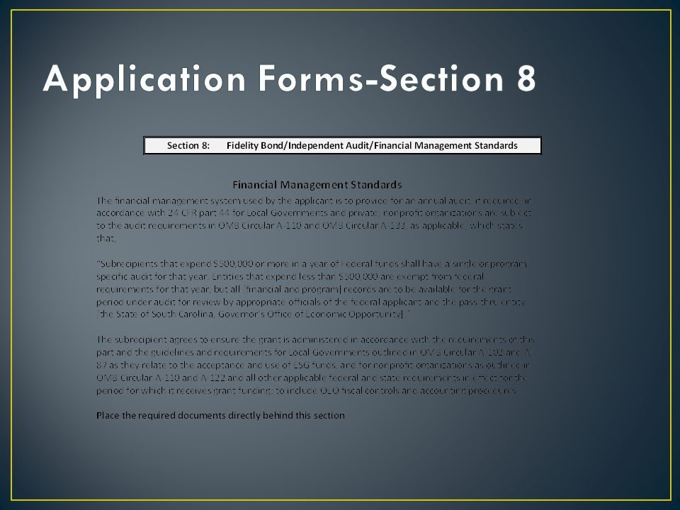 Application Forms-Section 8