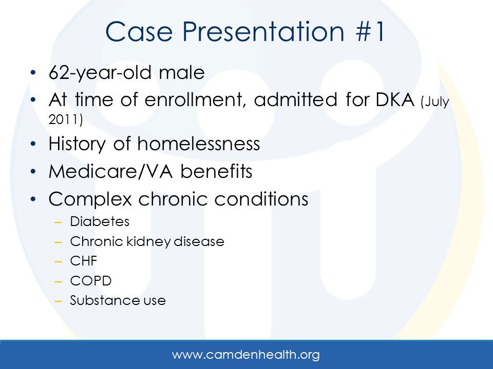 Case Presentation #1 62-year-old male