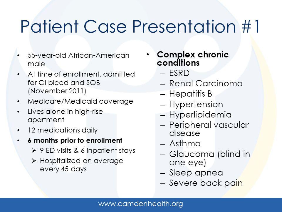 Patient Case Presentation #1