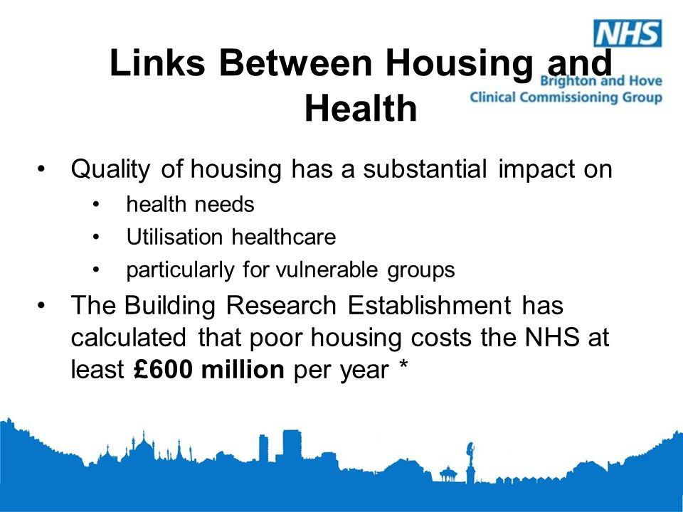 Links Between Housing and Health