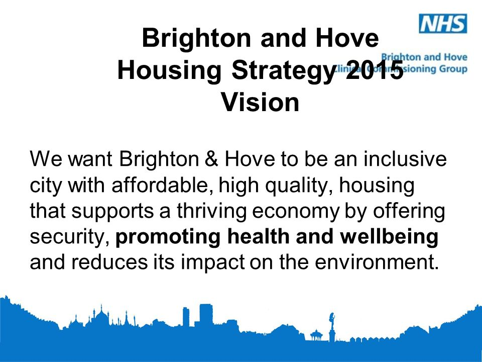 Brighton and Hove Housing Strategy 2015 Vision