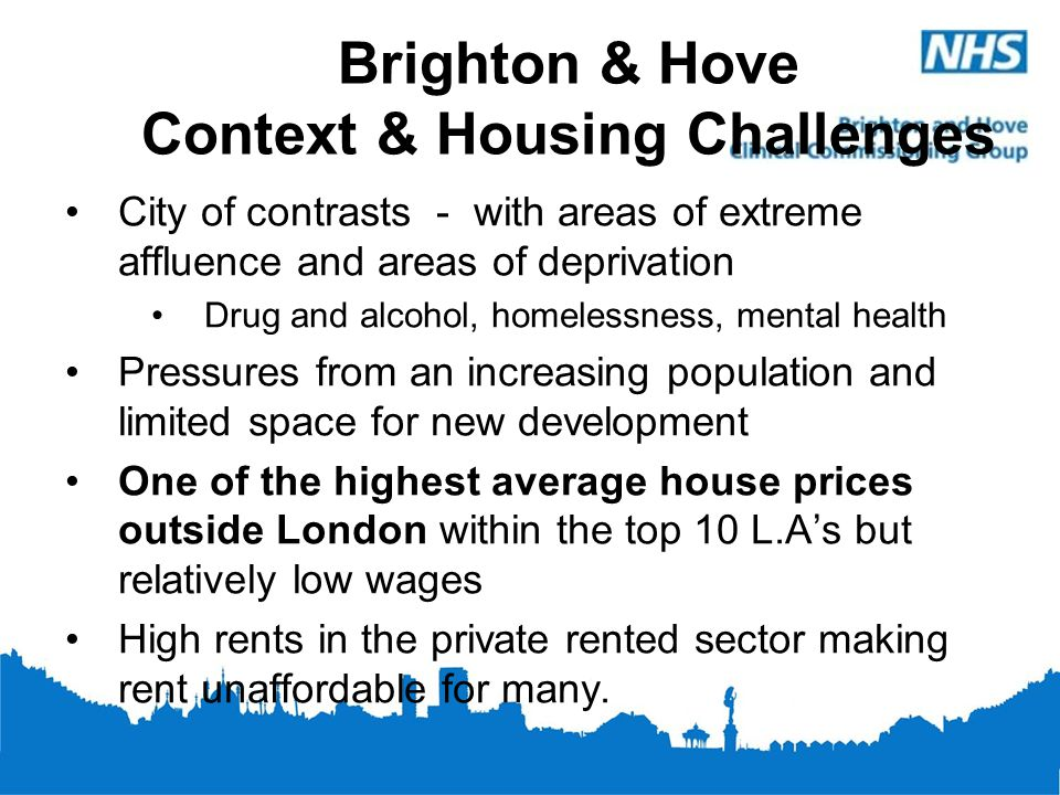 Brighton & Hove Context & Housing Challenges
