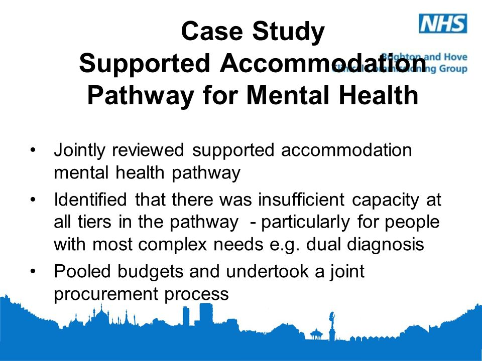 Case Study Supported Accommodation Pathway for Mental Health