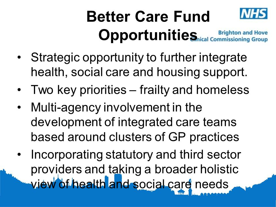 Better Care Fund Opportunities