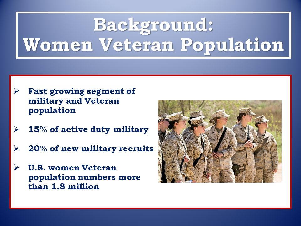 Background: Women Veteran Population