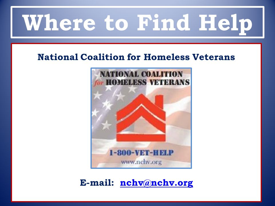 National Coalition for Homeless Veterans