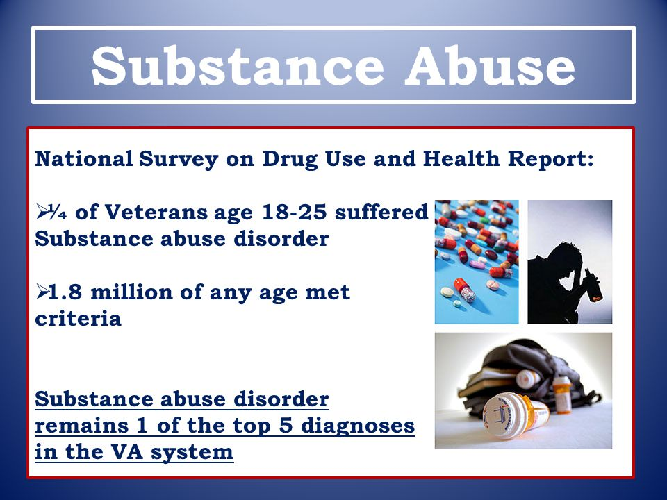 Substance Abuse National Survey on Drug Use and Health Report: