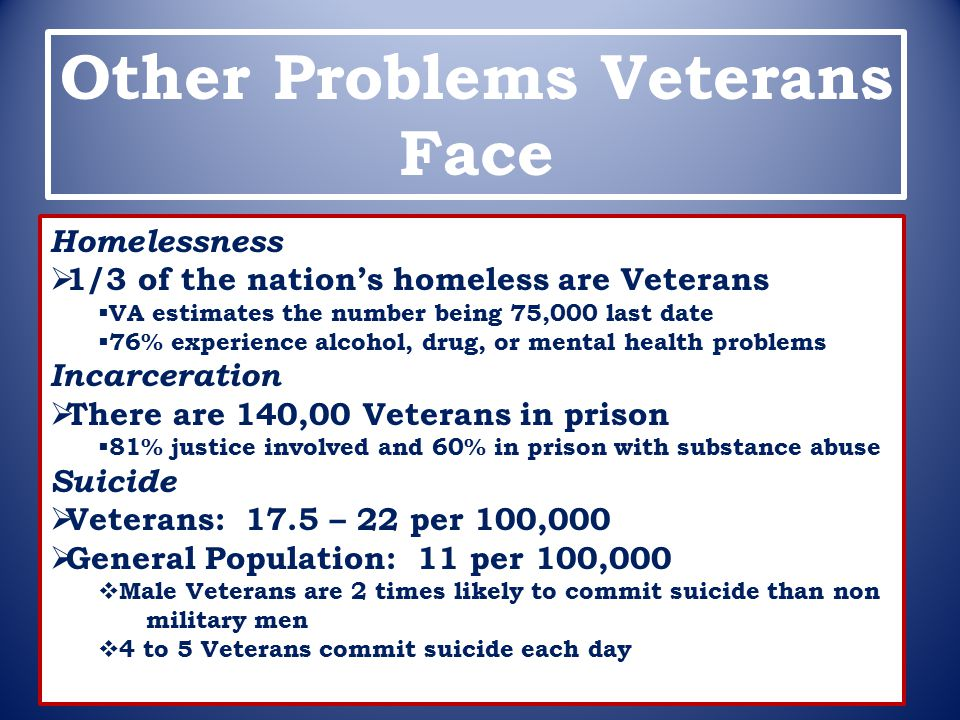 Other Problems Veterans Face