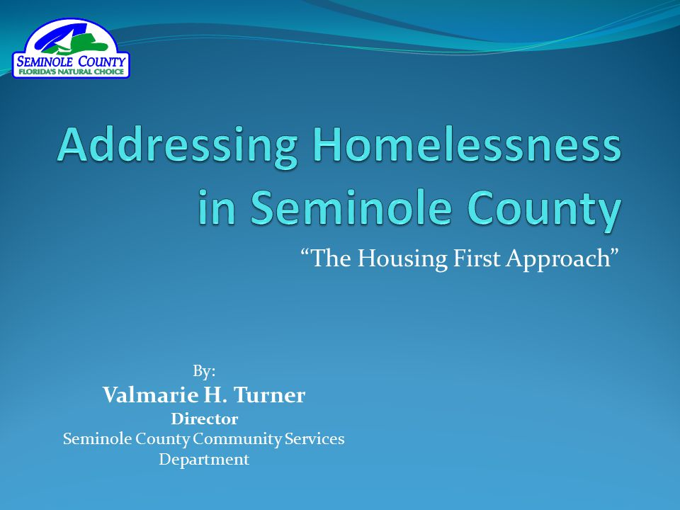 Addressing Homelessness in Seminole County