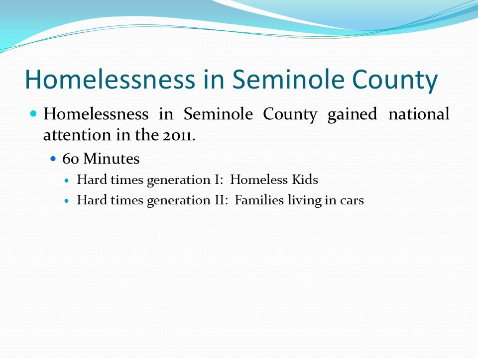Homelessness in Seminole County