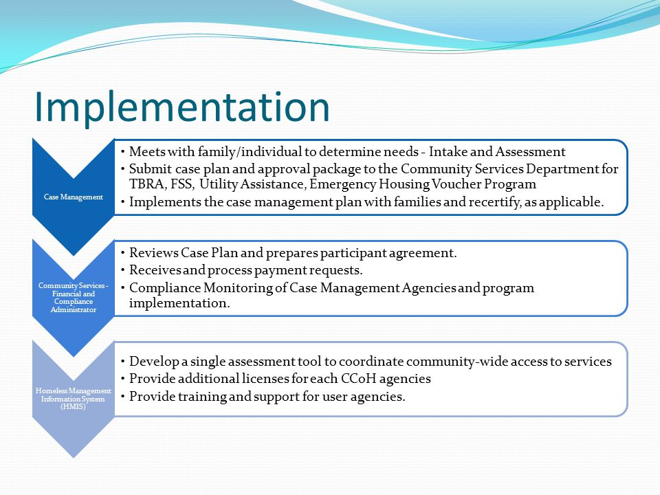 Implementation Case Management