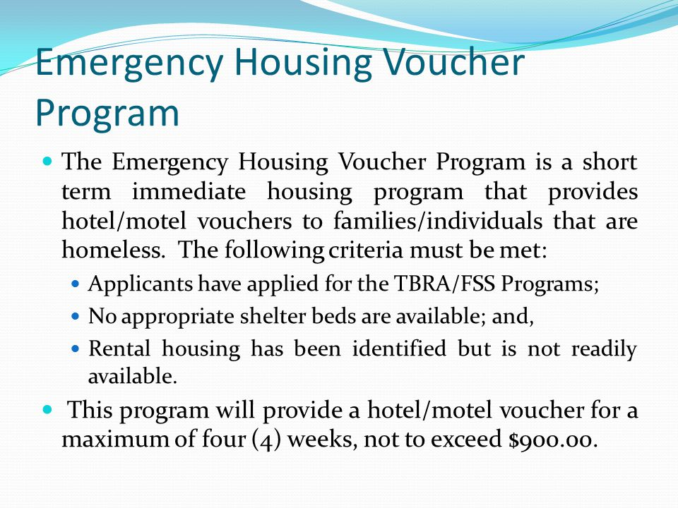 Emergency Housing Voucher Program