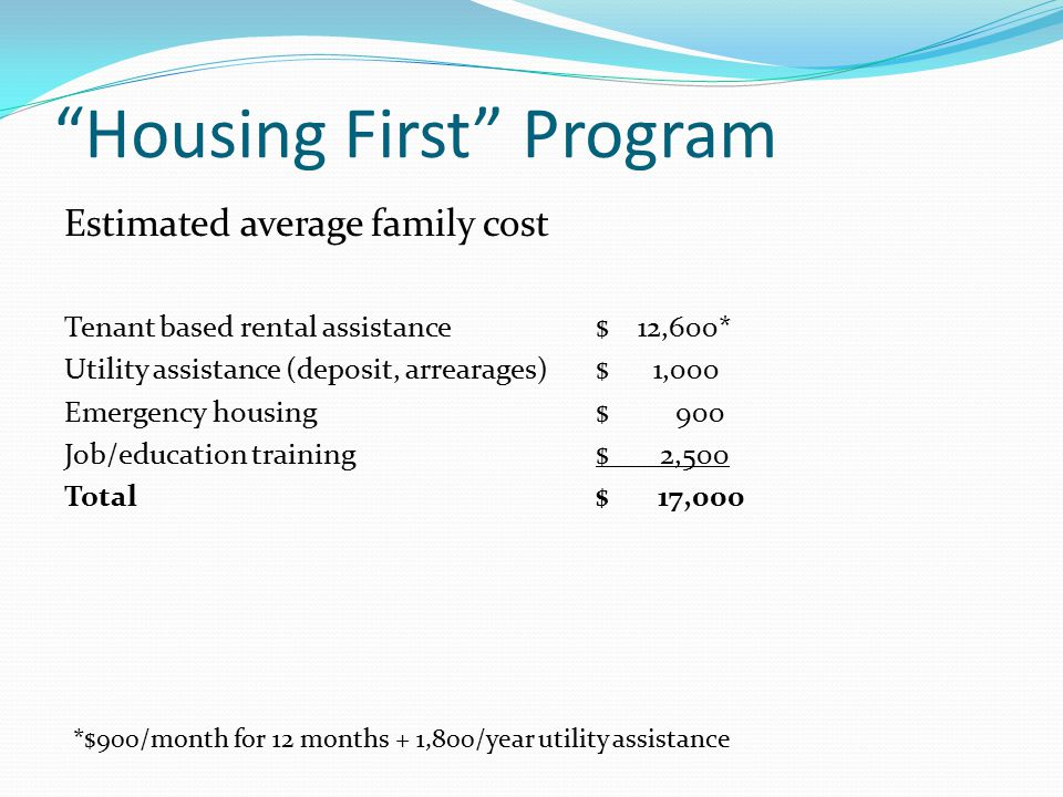 Housing First Program