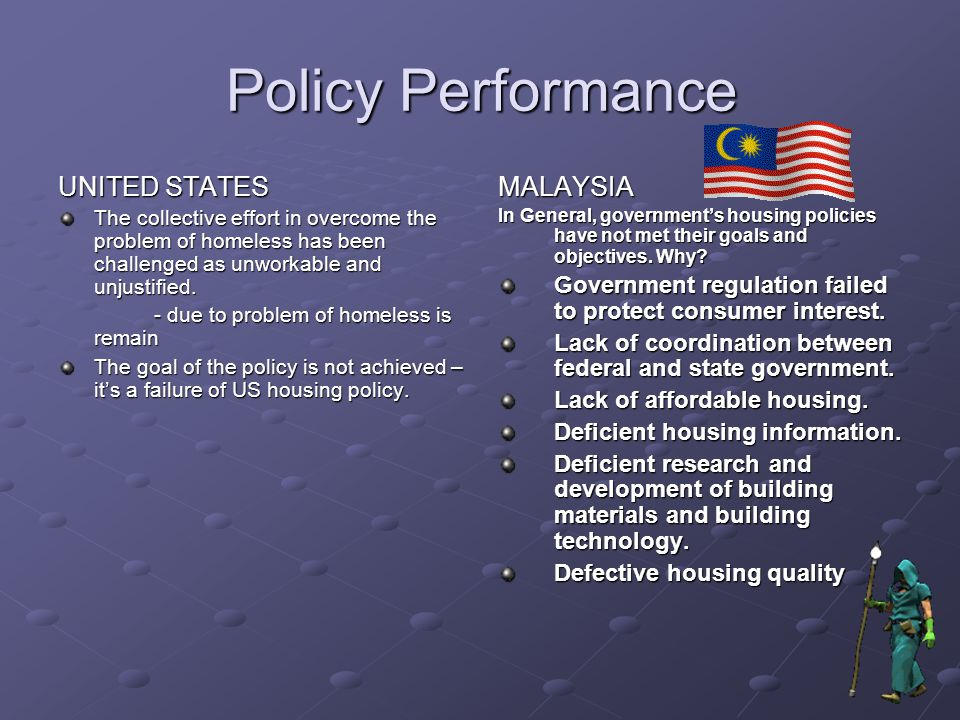 Policy Performance UNITED STATES MALAYSIA