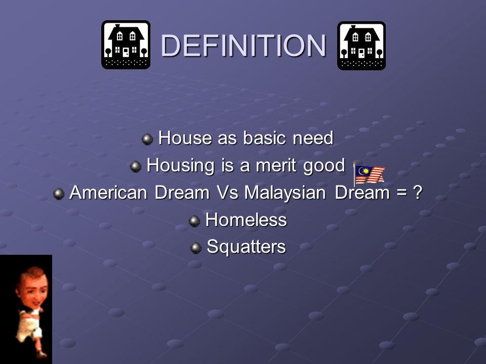 American Dream Vs Malaysian Dream =