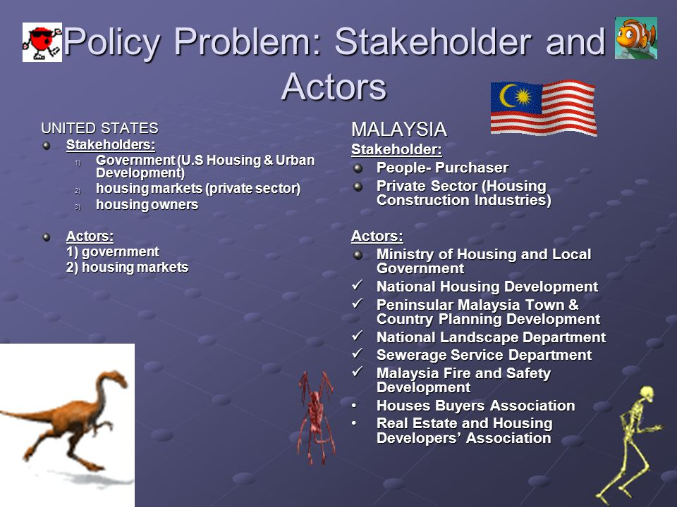 Policy Problem: Stakeholder and Actors