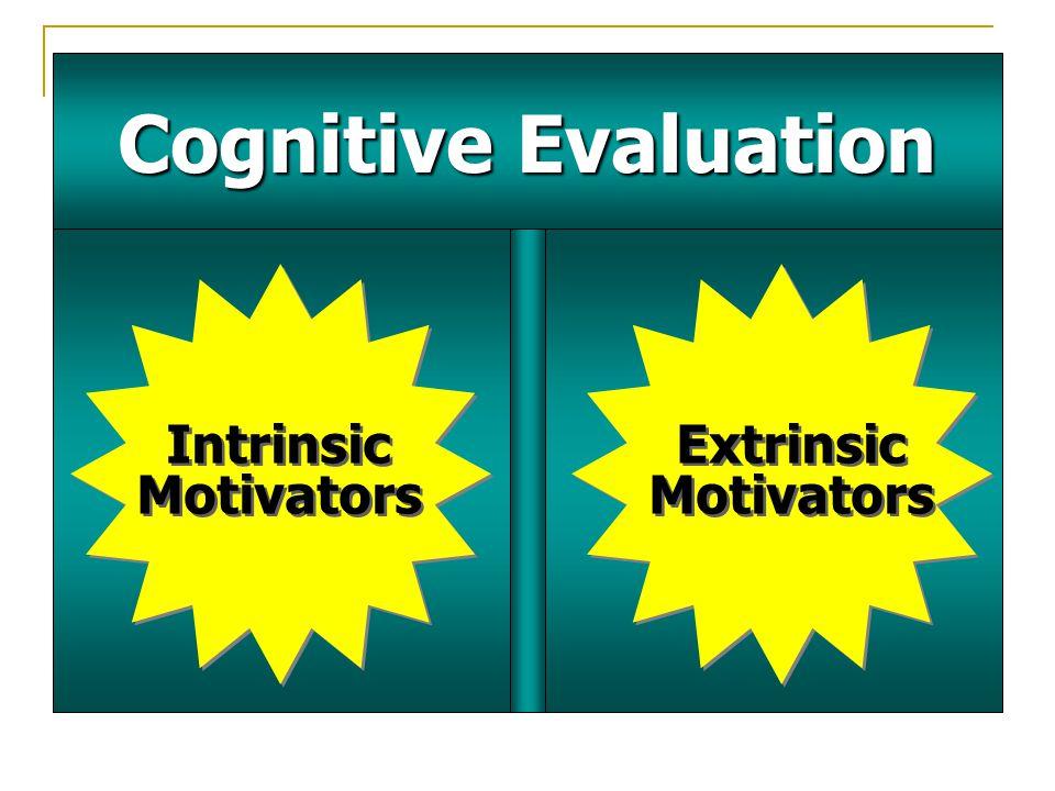 Cognitive Evaluation Intrinsic Motivators Extrinsic Motivators