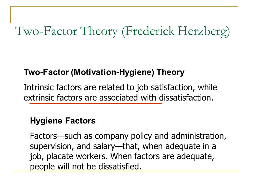 examining herzberg s two factor theory The validity of herzberg-s two-factor theory of motivation was tested empirically by surveying 2372 chemical fiber employees in 2012 in the valid sample.