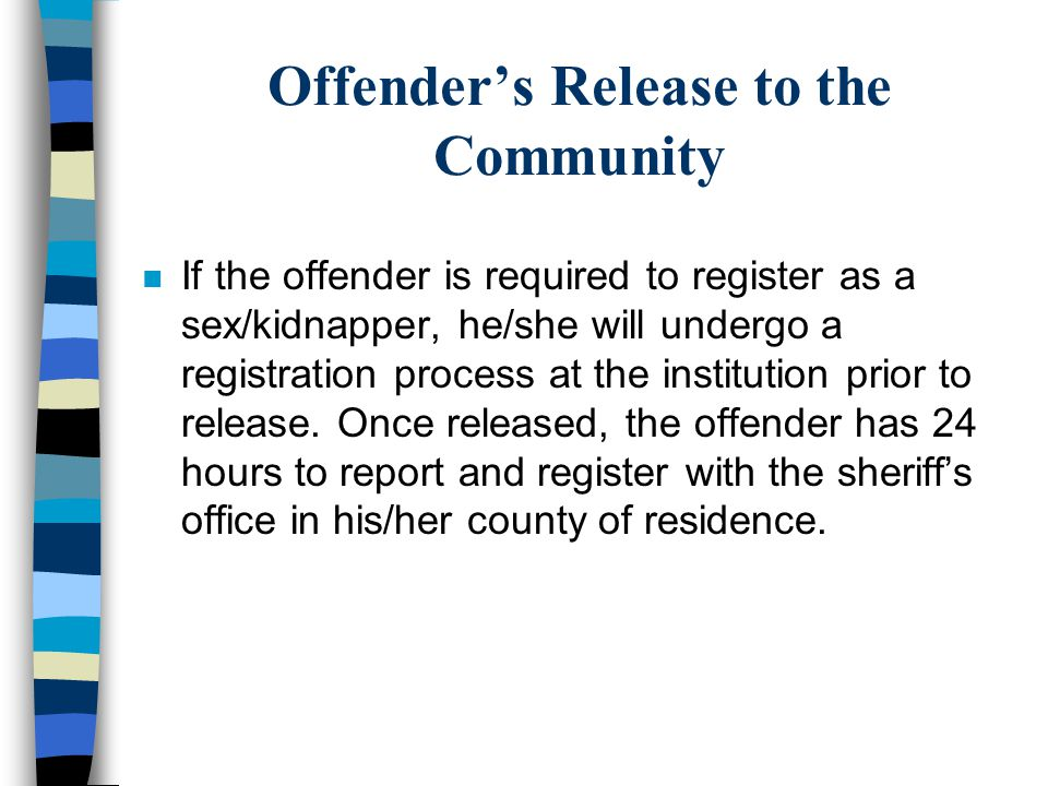 Offender's Release to the Community