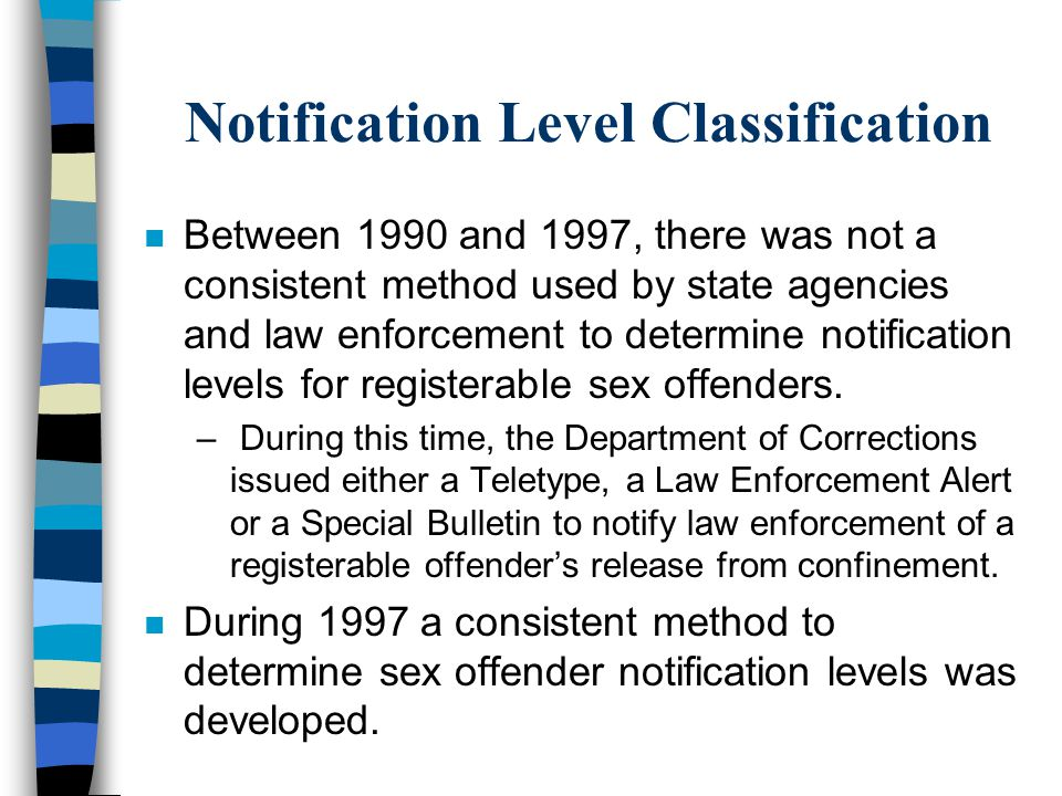 Notification Level Classification