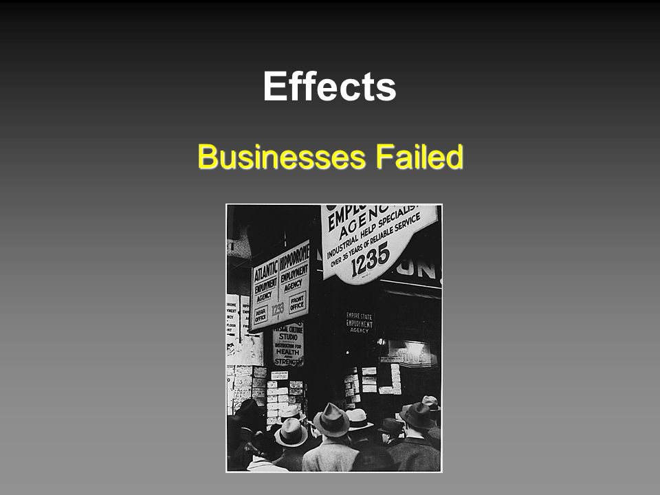 Effects Businesses Failed