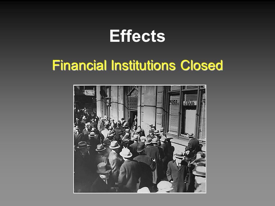 Financial Institutions Closed