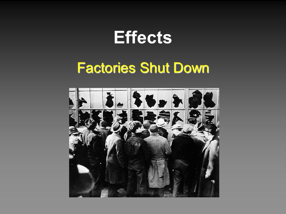 Effects Factories Shut Down