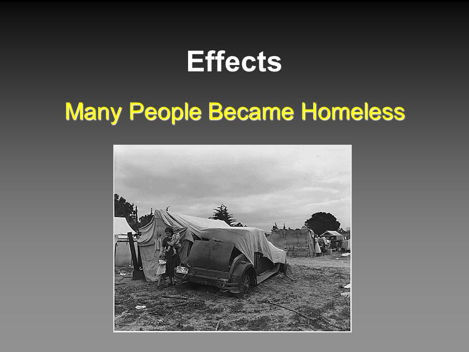 Many People Became Homeless