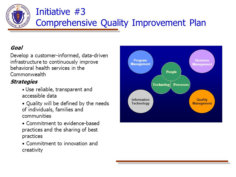 Initiative #3 Comprehensive Quality Improvement Plan