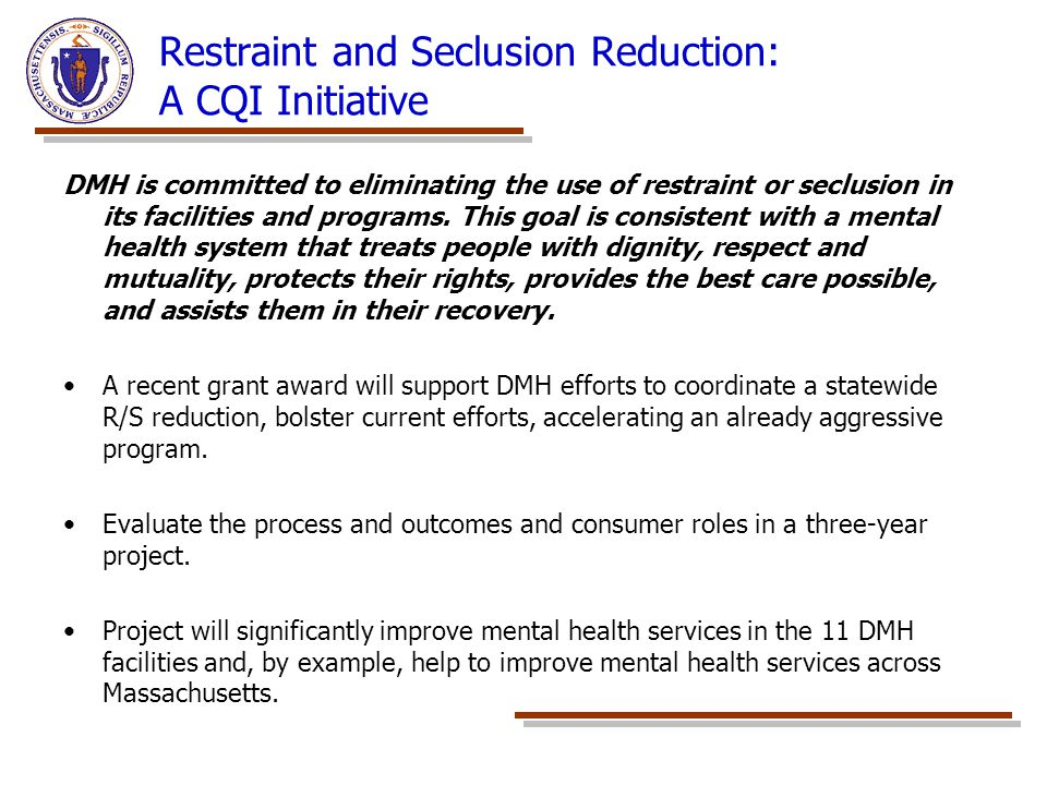 Restraint and Seclusion Reduction: A CQI Initiative