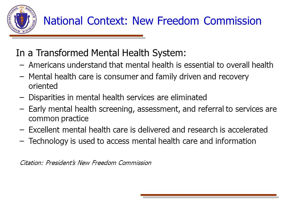 National Context: New Freedom Commission