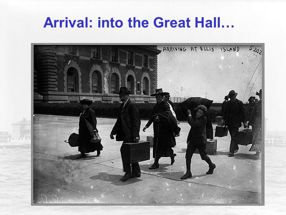 Arrival: into the Great Hall…