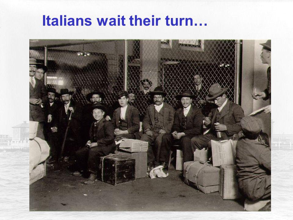 Italians wait their turn…