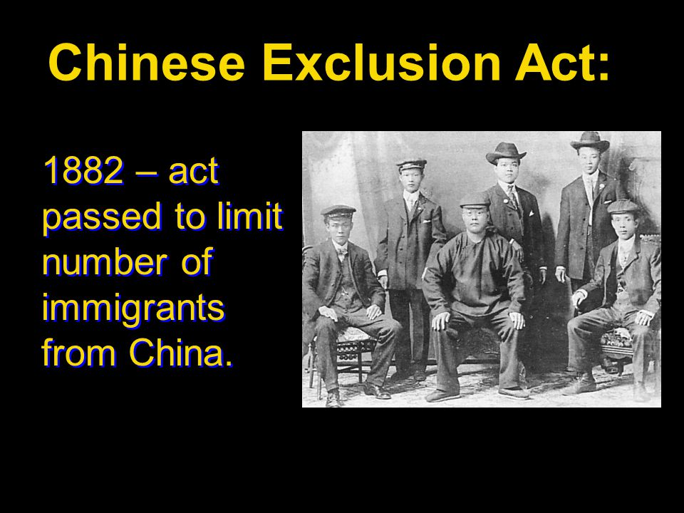 Chinese Exclusion Act: